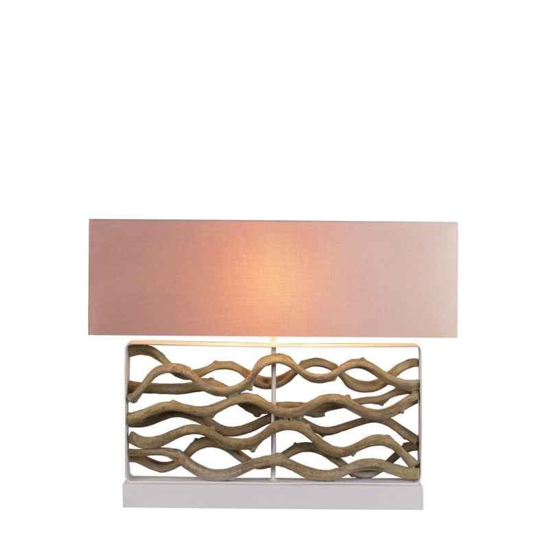 Lampe à poser H.63cm abat-jour en lin Hana