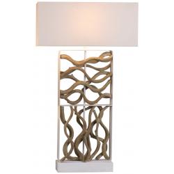 Lampe à poser H.90,5cm abat-jour en lin Hana