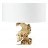 Lampe à poser torsade H.47cm abat-jour en coton Lanai
