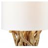 Lampe à poser bois blanchi H.42cm Lanai-ligne et abt-jours en coton