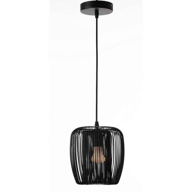Suspension métal noir D.27cm Light