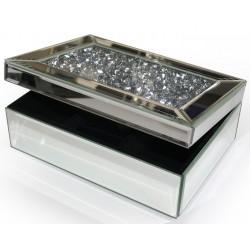 Boîte à bijoux miroir diamants Moy