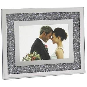 Cadre photo diamants miroir Moy