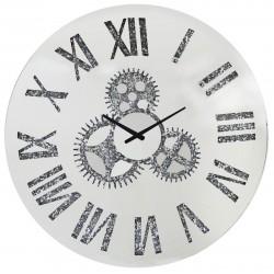 Horloge murale rond miroir Moy D.80cm