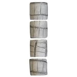 Ronds de serviette simili cuir de crocodile taupe lot x4