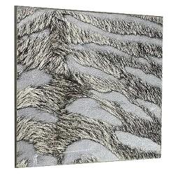 Lot de 4 dessous de verre carré gris Zèbre