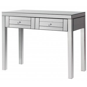 Table consolle avec 2 tiroirs miroir