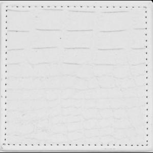 Dessous de verre croco blanc