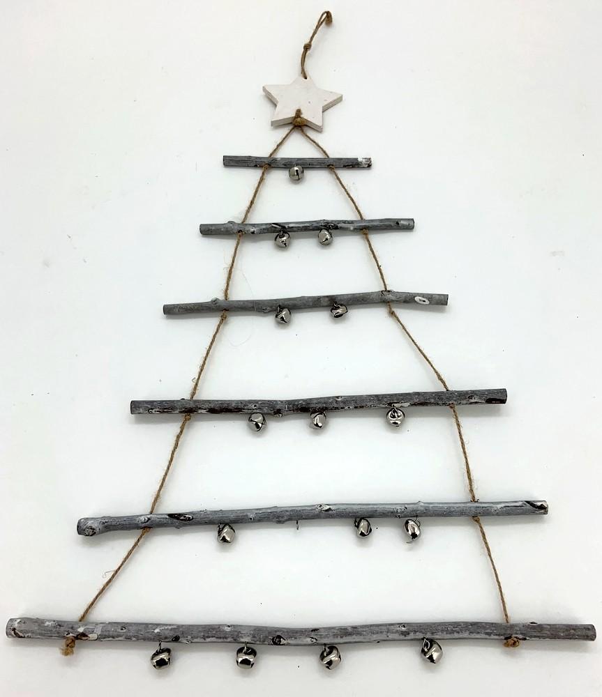 Sapin De Noel Suspendu En Bois arbre de noël à suspendre bois clair