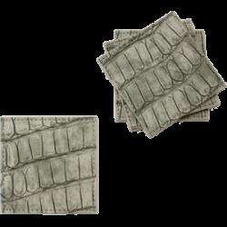 Dessous de verre croco taupe