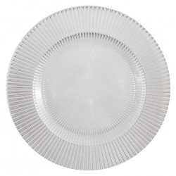 Assiette plate en verre irisé Luce