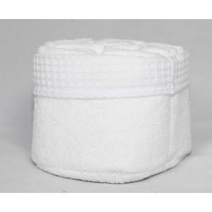 Panier de 6 serviettes blanches