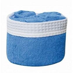 Panier de 6 serviettes bleu azur