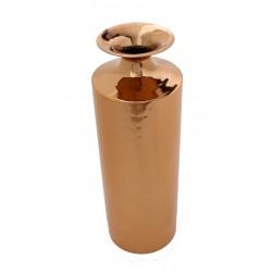 Vase cylindrique cuivre pièce unique H.40 cm