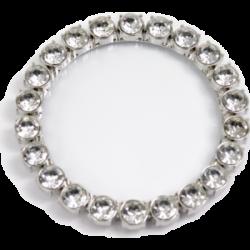 Dessous de verre inox diamants fantaisie