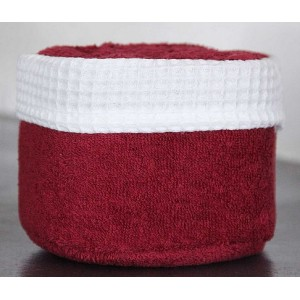 Panier de 6 serviettes rouge carmin
