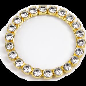 Dessous de verre doré diamants fantaisie