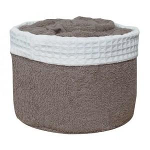 Panier de 6 serviettes taupe