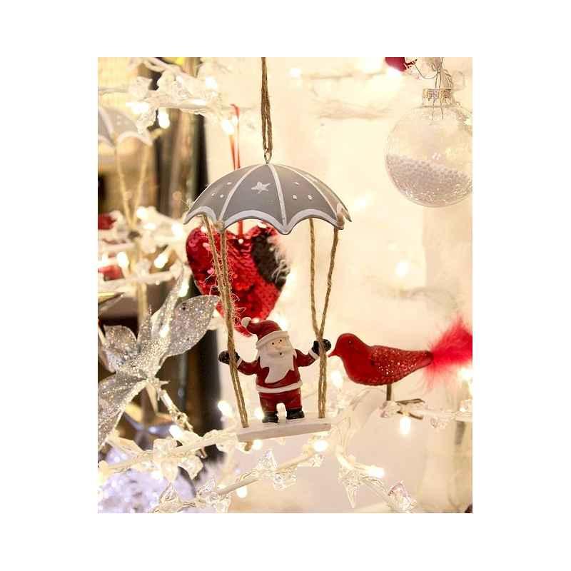 Suspension de Noël Père-Noël en parachute
