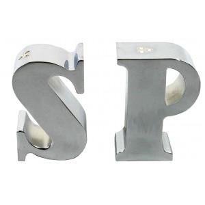 Poivre et sel métal argenté SP