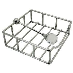 Porte-serviettes de table métal argenté GM