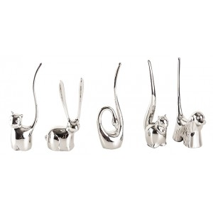 Lot de 5 baguiers animaux