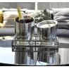 Seau à glaçons en aluminium martelé double paroi avec couvercle