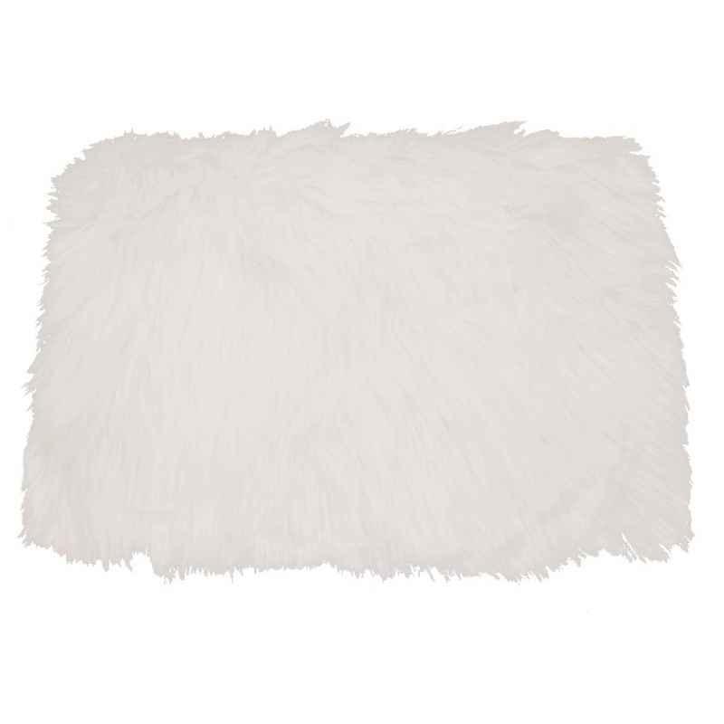Set de table fausse fourrure blanc