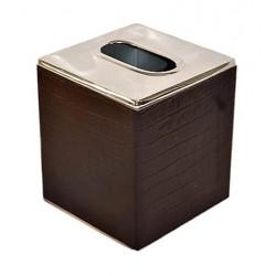 Boîte à mouchoirs carré croco choco