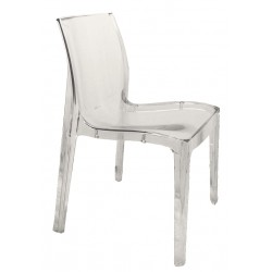Chaise transparente plexiglass