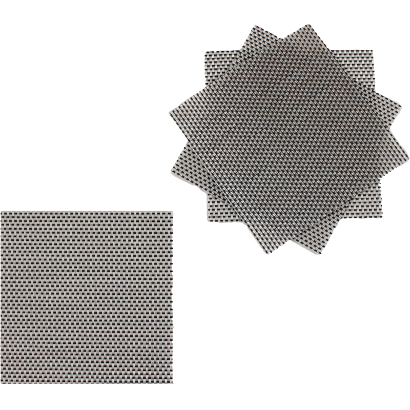 Dessous de verre gris