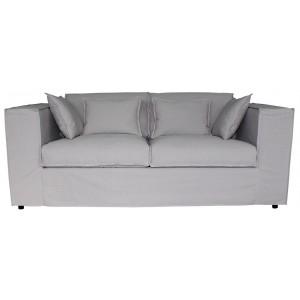 Canapé vintage convertible déhoussable en tissu 3 places