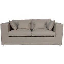 Canapé 3 places vintage en tissu déhoussable