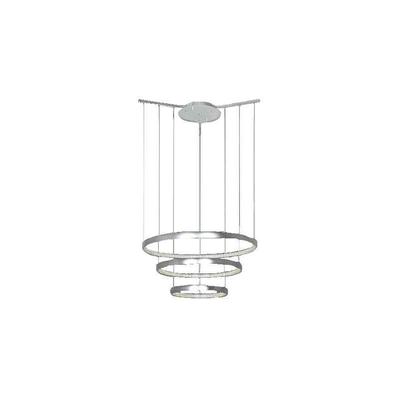 Lustre design trois cercles anneaux ajustables LED