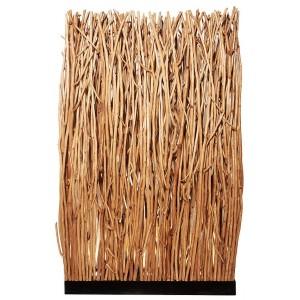 Paravent lampadaire lumineux bois flotté H.180 cm