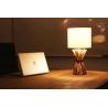 Lampe à poser bois flotté abat-jour coton H.54 cm Milolii