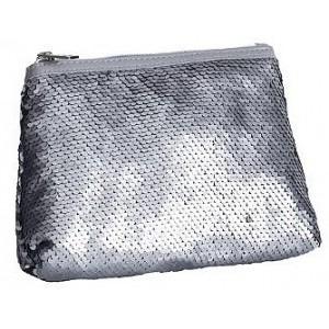 Pochette à sequins argentés L.20 cm