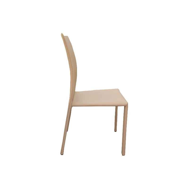 Lot de 2 chaises beige simili cuir H.90 cm