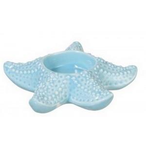 Photophore étoile de mer en porcelaine