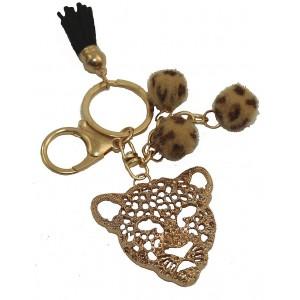 Porte-clefs Lion doré