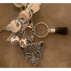 Porte-clefs Lion argenté