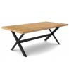 Table à manger chêne clair 160 cm