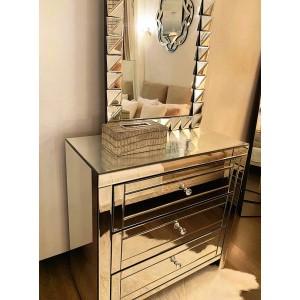 Commode 3 tiroirs miroir Moy
