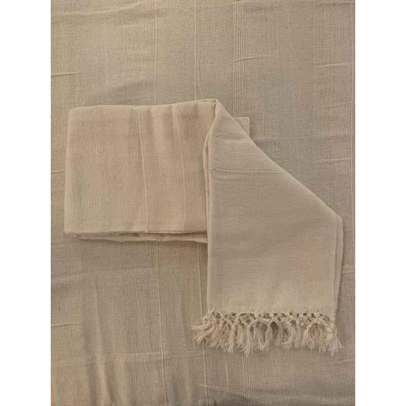 Plaid blanc 100% coton