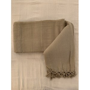 Plaid taupe 100% coton