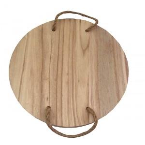 Plateau rond en bois flotté D.30 cm
