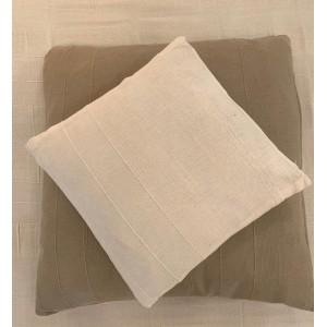 Coussin blanc 100% coton 40x40cm