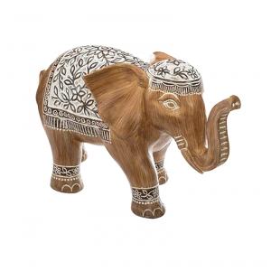 Éléphant décoratif en résine H.11cm