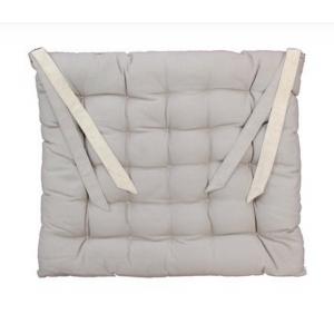 Galette de chaise beige taupe 40x40cm