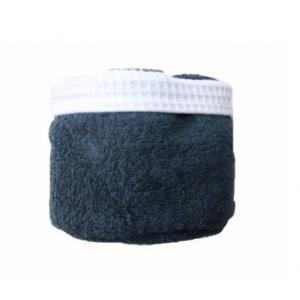 Panier de 6 serviettes bleus nuit